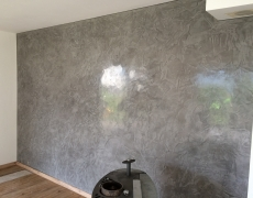 Stucco gris foncé à Veyras