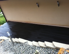 Aménagement d'une terrasse (ancien talu)